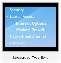 Javascript Tree Menu Transparent Tree Drop Down Navigation